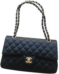 Chanel Timeless/Classique Seide Handtaschen - Schwarz
