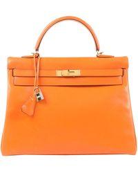 Hermès - Kelly 35 Leder Handtaschen - Lyst