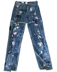 Vetements Jeans a sigaretta - Blu