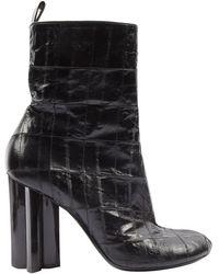 Louis Vuitton Stivali in anguilla nero