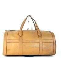 Hermès Leather Travel Bag - Natural