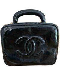 Chanel Borsa a tracolla Vanity in Vernice - Nero