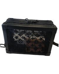 Louis Vuitton Bolsos en cuero negro Soft trunk mini
