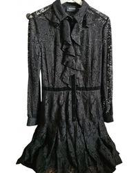 The Kooples Fall Winter 2019 Lace Mid-length Dress - Black