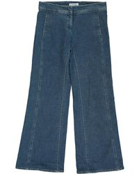 Chanel - Blue Cotton Trousers - Lyst