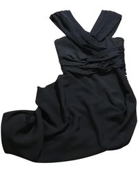 Dior Navy Silk Dress - Black