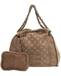 d0710bb7b27e Lyst - Chanel Tote Bag In Brown Shearling in Brown