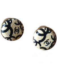 Chanel Boucles d'oreilles en Métal Beige - Multicolore