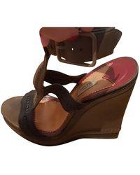 Loewe Brown Leather Heels