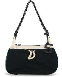 Chanel Cloth Handbag - Blue