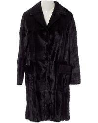 Marni \n Black Fur Coat