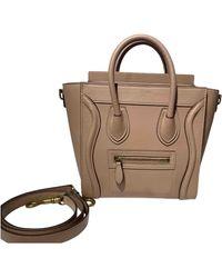 Celine Nano Luggage Leder Handtaschen - Natur