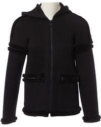 Chanel Wolle Sweatshirt - Schwarz