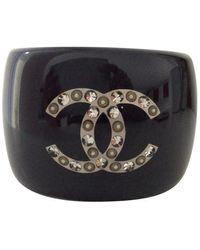 Chanel Black Plastic Bracelet