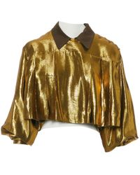 Jean Paul Gaultier - Vintage Gold Viscose Top - Lyst