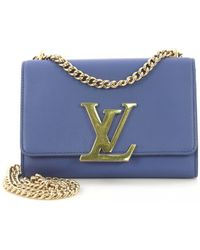 8468950969a0 Louis Vuitton - Louise Blue Leather Handbag - Lyst