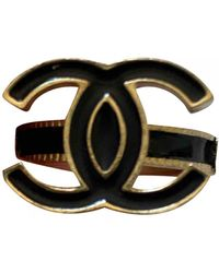 Chanel Cc Ring - Black