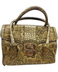 Etro Leather Handbag - Metallic