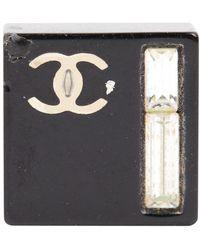 Chanel Ceramic Earrings - Black