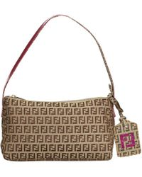 Fendi - Vintage Brown Cloth Handbag - Lyst