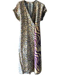 Dries Van Noten Silk Mid-length Dress - Multicolor