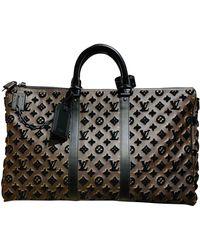 Louis Vuitton Sac Keepall en Toile Marron