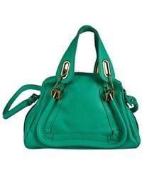 Chloé - Paraty Green Leather Handbag - Lyst