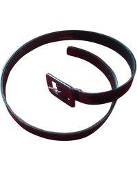 Chanel Cinturón en charol negro