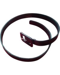 Chanel Black Patent Leather Belts