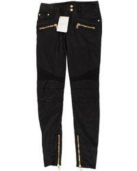 Balmain Black Cotton Trousers