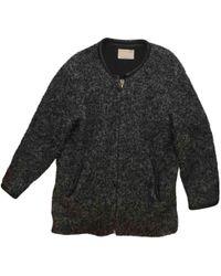 IRO - Pre-owned Grey Wool Coats - Lyst