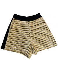 Maje Yellow Polyester Shorts