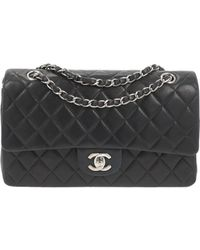 Chanel Timeless/classique Leather Handbag - Black