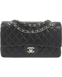 Chanel Timeless/classique Leather Handbag - Black