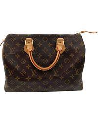 Louis Vuitton Borsa a mano in tela marrone Speedy