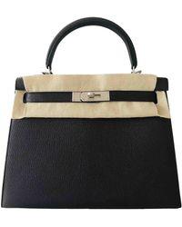 Hermès Kelly 28 Leder Handtaschen - Lila