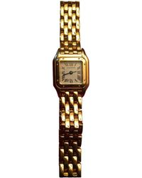 Cartier - Pre-owned Panthère Yellow Gold Watch - Lyst