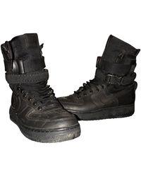 Nike Sf Air Force 1 Cloth High Sneakers - Black