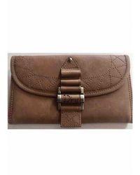 Dior Vintage Camel Leather Wallets - Brown