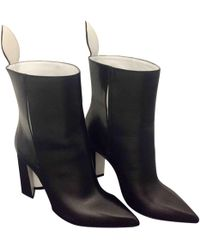 Louis Vuitton - Pre-owned Matchmake Black Leather Ankle Boots - Lyst