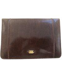 Dior Echse Handtaschen - Braun