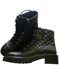 Chanel Leather Boots - Black