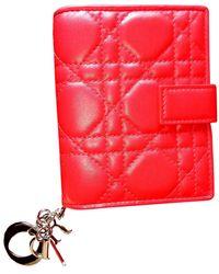 Dior Portafoglio in pelle rosso Lady