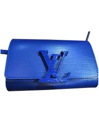 Louis Vuitton - Pre-owned Blue Leather Handbags - Lyst