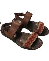 Lanvin Leather Sandals - Multicolor
