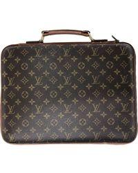 Louis Vuitton Bolsa de mano en lona marrón - Multicolor
