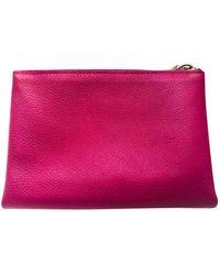Hermès Leder Clutches - Pink
