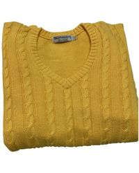 Burberry Wolle Pullover - Gelb