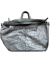 Givenchy Grey Leather Bag - Gray