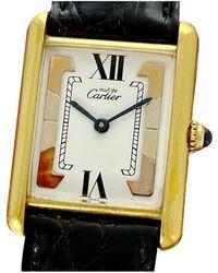 Cartier Tank Must Silver Gilt Watch - Multicolour